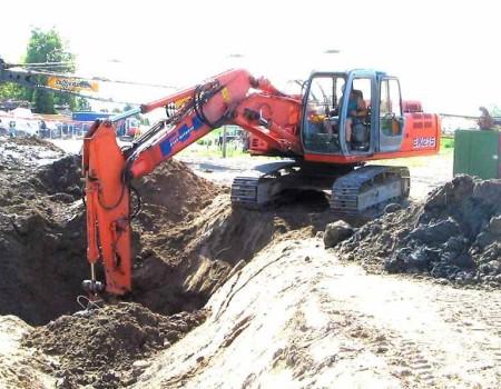 Lavoro scavo per fondazioni